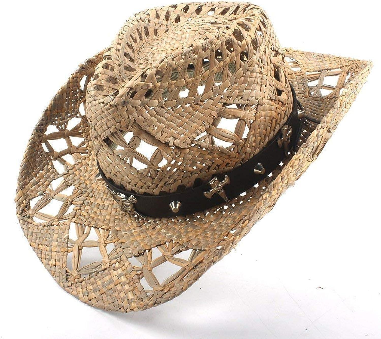 Modestil für Damen, Mix Cowboyhut 100% Natürliche Stroh Frauen Männer Handarbeit Weave Cowboy Hüte für Lady Dad B07MNF8S79  Bekannt für seine gute Qualität