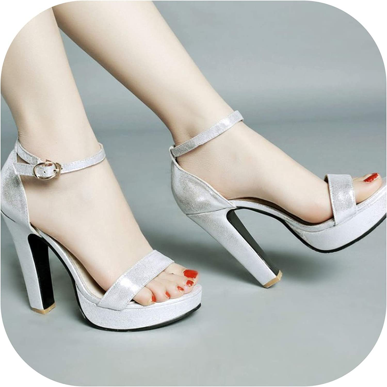 Buckle with New Sandals with high Heel shoes Rome shoes