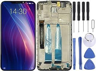 Hencik Telefonskärm pekskärm för Meizu LCD-skärm och digitaliserare full montering med ram för Meizu X8 mobiltelefontillbehör