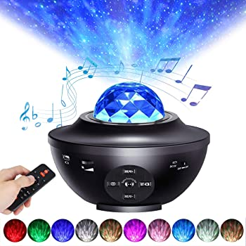Tanbaby Sky Light Projecter Night Light Projector LED Star Light Projector Remote Control LED Nebula Cloud Music Player with Bluetooth for Baby Kids Bedroom//Game Rooms//Home