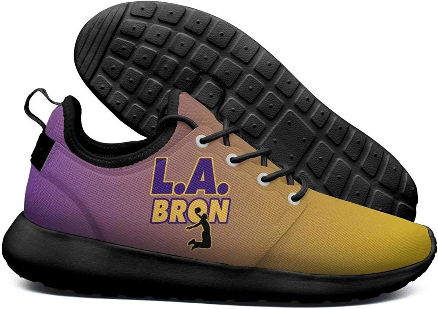 Womens Roshe Two Lightweight Purple Yellow L.A.BRON_Violent Dunk Coll Cross-Country Running mesh shoes