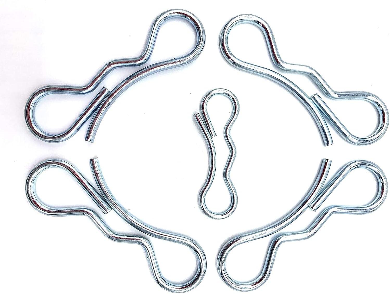 Deck Clip Set (4pcs) 194209 Bow Tie Lock Cotter Pins+ (1pcs) 194208 Bow Tie Lock Cotter Pin for Craftsman Poulan Husqvarna Mowers