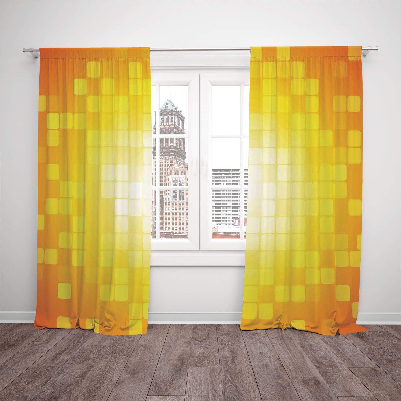 Juego de 2 cortinas para ventana de satén, decoración rústica ...