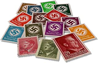 WW2 Memorabilia - 15 Stamps Issued in Germany Between 1936 and 1945 with Hitler and Swastika Propaganda Signs - The World ...