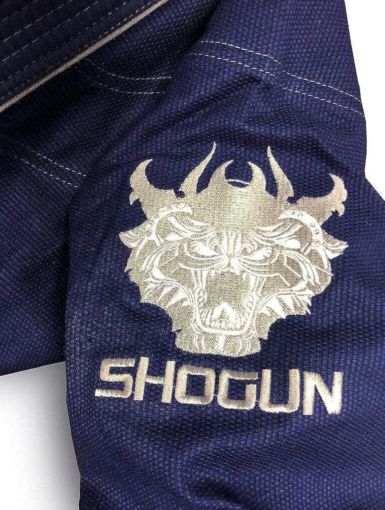 SHOGUN Fight Jiu Jitsu Gi Ultra Light Kanji 350gsm Pearl Weave Cotton Premium BJJ