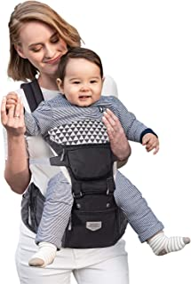 Baby Carrier Hipseat Ergonomic, SUNVENO Front Pack Baby Carrier Back Carrier, Lightweight Baby Carrier Hip Seat for Outdoo...