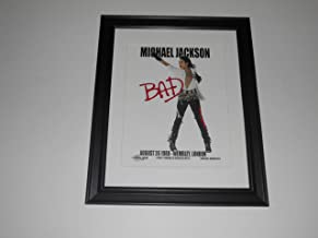"Framed Michael Jackson Bad Tour 1988 Wembley, London 8/26/88 Poster, 14"" by 17"""