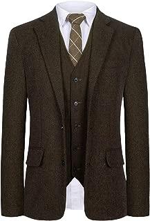 brown herringbone tweed suit