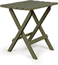 Camco 51884 Sage Large Adirondack Portable Outdoor Folding Side Table, Perfect for The Beach, Camping, Picnics, Cookouts and More, Weatherproof and Rust Resistant