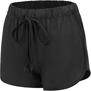 Regna X Womens Running Shorts - Athletic Dolphin Shorts (Solid/Color Block)