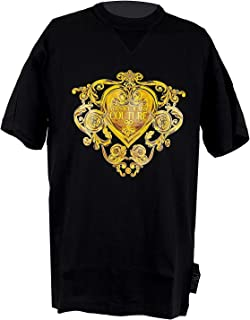 Versace Jeans Couture Men's Brocade Print Shirt Black