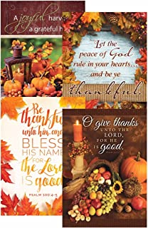A Thankful Heart - Thanksgiving - Scripture Greeting Cards - KJV. - (Box of 12)