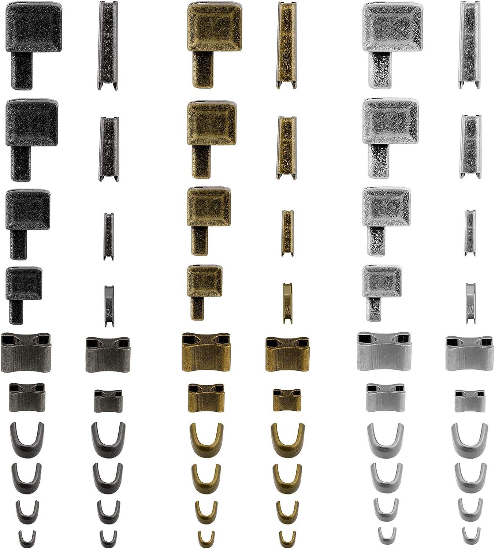 SAVITA 60pcs Metal Zipper Max 64% Free shipping OFF Latch Retainer Slider Ins Stops