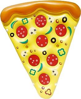 JOYIN Giant Inflatable Pizza Slice Pool Float, Fun Pool Floaties, Swim Party Toy, Summer Pool Raft (1 Pack), Extra Large w...