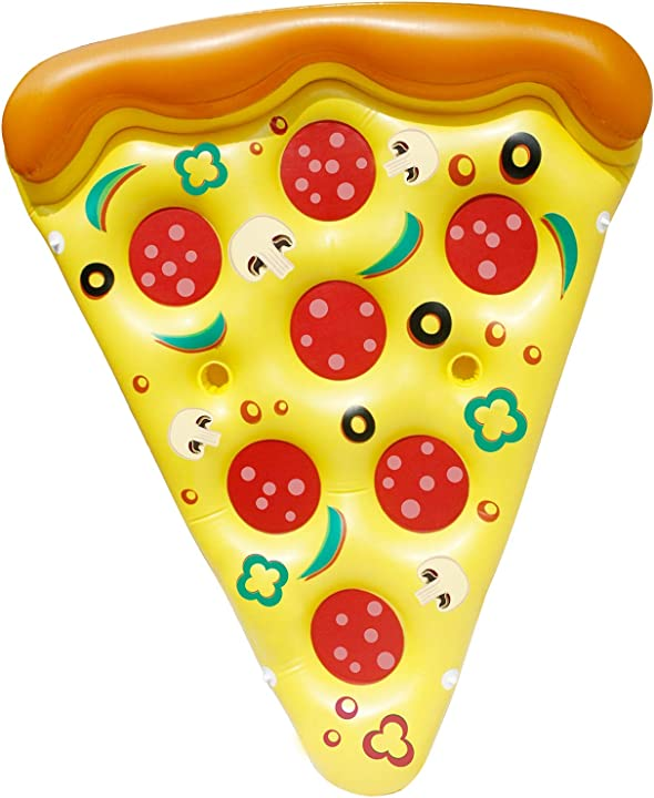 Materassino gonfiabile da piscina a forma di pizza joyin C2I_INV_B076H9CX6D_R