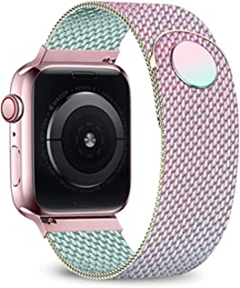 CGGA Milanese Pasek Pasek dla Apple Watch 6 Band 44mm 42mm 40mm 38mm bransoletka ze stali nierdzewnej Watchband do Iwatch ...