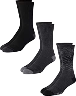 New Balance Men's Mositure Wicking Cushioned Fashion Crew Socks (3 Pack)