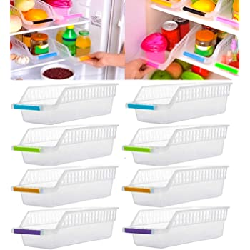 Angel Bear Fridge Storage Basket Shelf Organiser Rack Space Saver Food Storage Refrigerator Drawer (8)