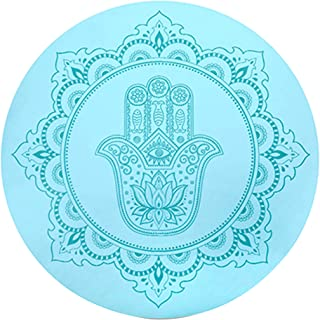 Round Meditation Mat/Round Yoga Mat/Foldable Meditation Mat, Rubber Non-Slip Mat, Door Mat - Male and Female Models, Diame...