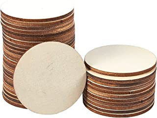 Unfinished Wood Slices - 36-Count Round Natural Rustic Wood Circles, Wooden Log Slices for DIY Craft, Wedding Decoration, Home DecorCenterpieces, 2-inch Diameter, 0.1 inch Thick