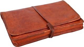 Gusti Laptoptasche 13 Zoll Leder - Christofer passend für MacBook Pro 13 Laptophülle Notebooktasche Leder Vintage Braun