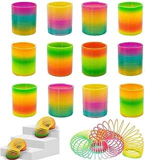 Rainbow Magic Spring, 12 PCS Colorful Rainbow Neon Plastic Spring Toy