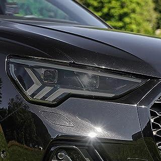 NCUIXZHAdesivo de TPU transparente com película protetora preta para farol de carro, para Audi Q3 8U F3 2012-Presente RSQ...