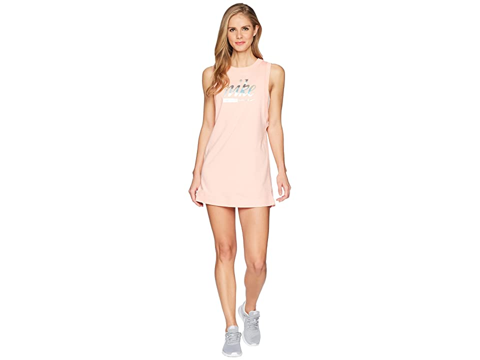 Nike Sportswear Metallic Dress (Bleached Coral) Women