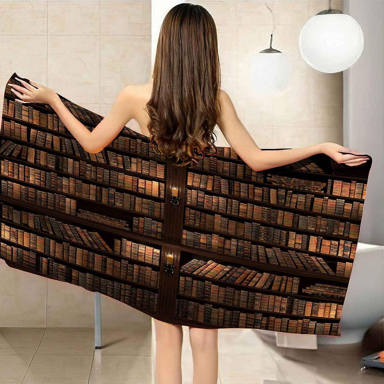 Mail order CGBNDS Bath Towel Oversized Vintage Shelf Microfiber Beach Award Book