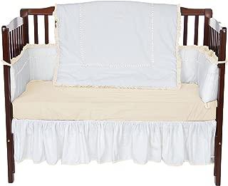 Baby Doll Bedding Unique Crib Bedding Set, Ecru