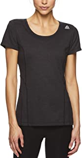 Reebok Women's Gym & Workout T-Shirt - Dynamic Fitted Performance Short Sleeve Athletic Top