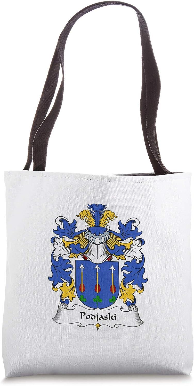 Podjaski Coat of Arms - Family Crest Tote Bag