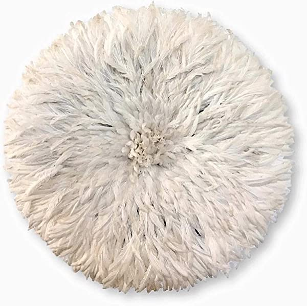 Ethnic Origin Company African Juju Hat White Feather 30