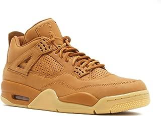 Mens Air Jordan 4 Retro Premium Ginger/Gum Yellow Leather