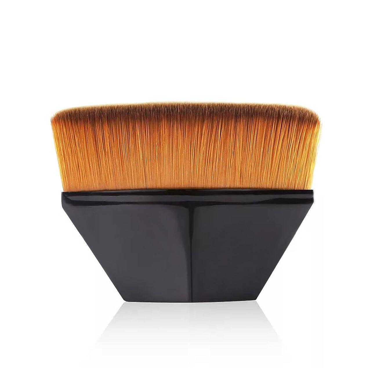 裁量ぼんやりしたからかうペタル ファンデーション ブラシ 高密度合成毛 ベース ブラシ ブラック