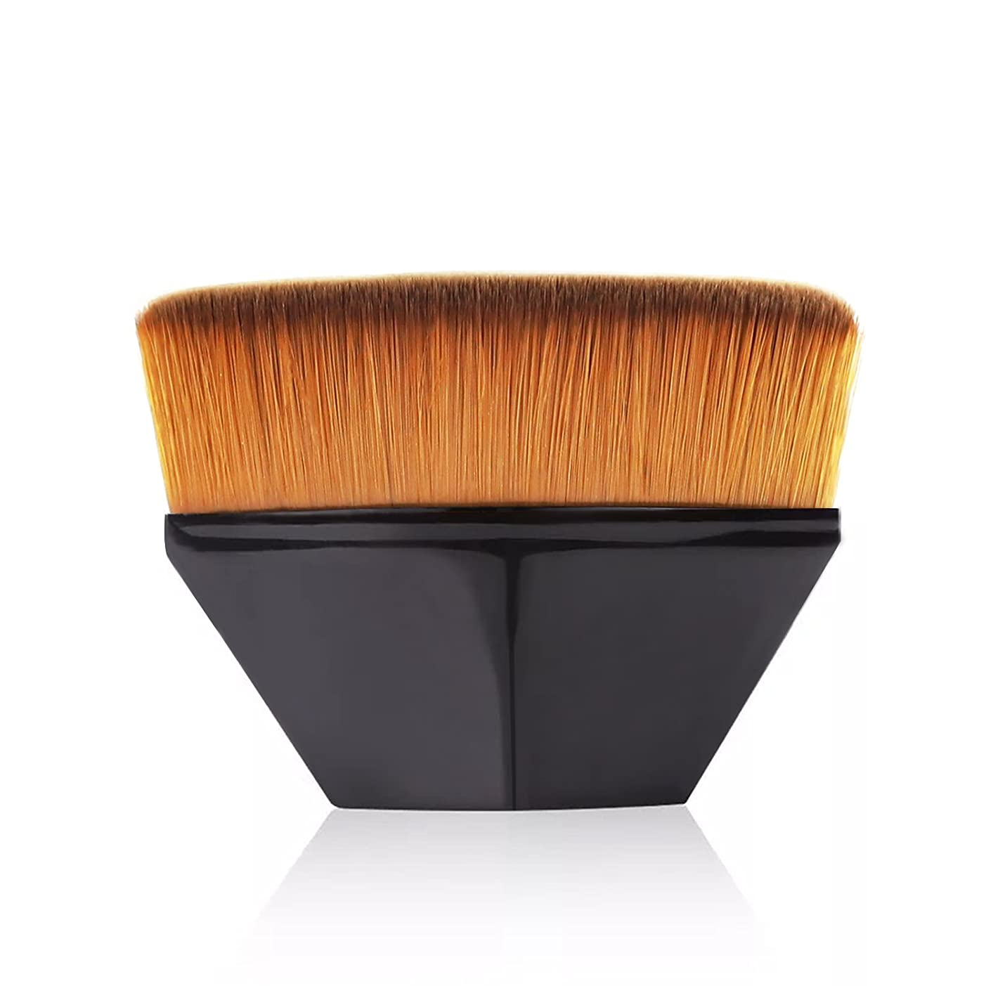 無重要大使館ペタル ファンデーション ブラシ 高密度合成毛 ベース ブラシ ブラック
