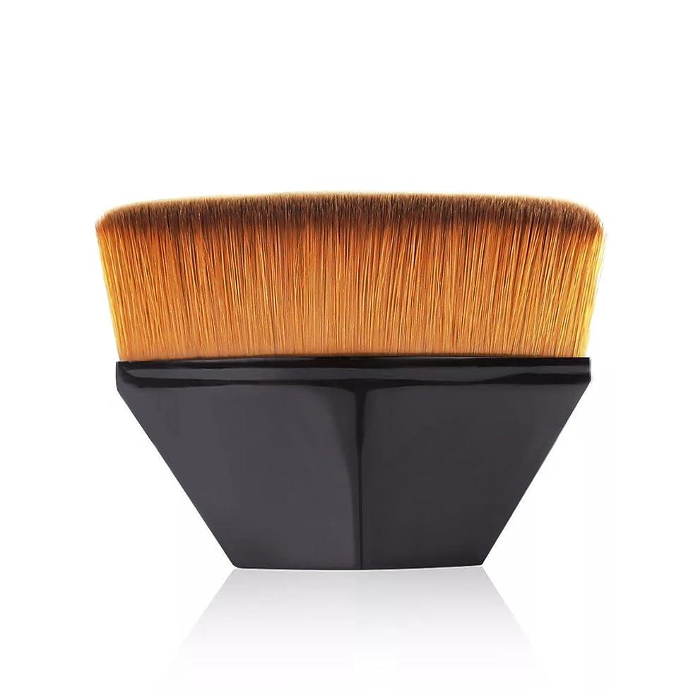 有彩色のティーンエイジャーさびたペタル ファンデーション ブラシ 高密度合成毛 ベース ブラシ ブラック