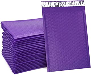 UCGOU 6x10 Inch Purple Poly Bubble Mailers Padded Envelopes 50pcs