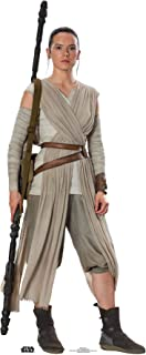 Star Cutouts Ltd Official Cutouts Star Wars Rey Daisy Ridley (SW:TFA) Lifesize Cardboard Cut out Cartón de tamaño Real, 18...