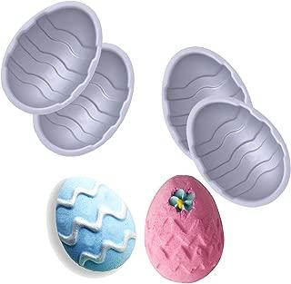 Tyoungg 2 Sets Aluminum Easter Egg Bath Bomb Mold Soap Mold Fizzies (aluminum)