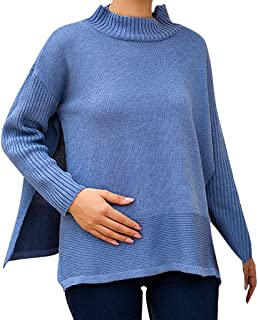 Pullover Plus Size Women Knitted Solid Long Sleeve O-Neck T-Shirt Sweater Blouse