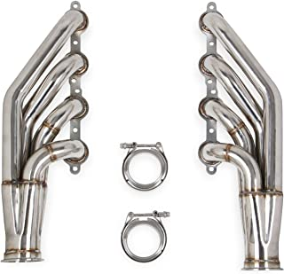 Flowtech 11537FLT LS Turbo Headers Up And Forward 1.875 in. Primary Tubes w/3 in. Collector 409 Stainless Steel Incl. Gaskets Natural Finish For Use w/4.8/5.3/6.0L LS Engines w/Turbos LS Turbo Headers