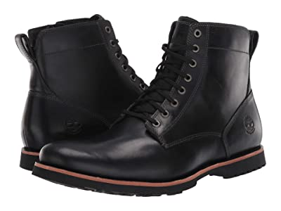 Timberland Kendrick Side Zip Waterproof Boot (Black Full-Grain) Men