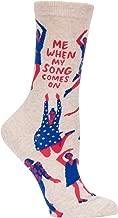 Blue Q Women's Novelty Crew Socks (fit women's shoe size 5-10)