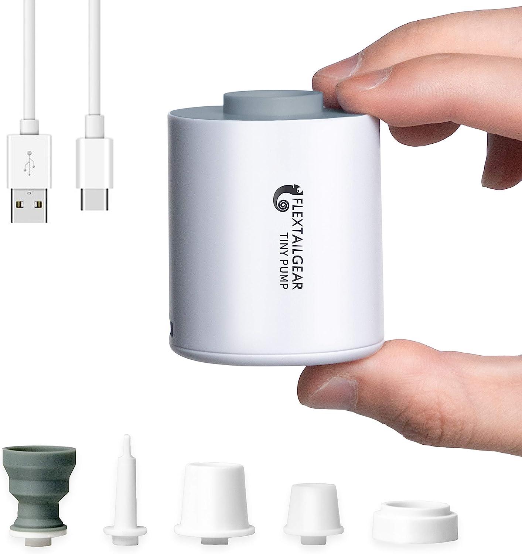 FLEXTAILGEAR TINY PUMP携帯式エアーポンプ 1300mAh電池USB充電式の最軽量ポンプ 空気を入れること空気を抜くことができる プール用ブイ、浮き輪、真空袋など…
