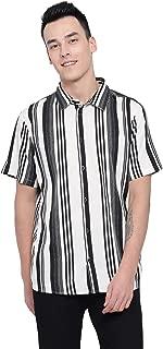 oxolloxo Men Polyester Striped Shirt