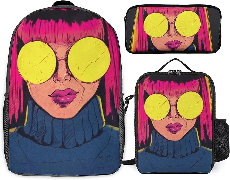 Stoner Art Three-piece set of + st student Max 69% OFF schoolbag Rare