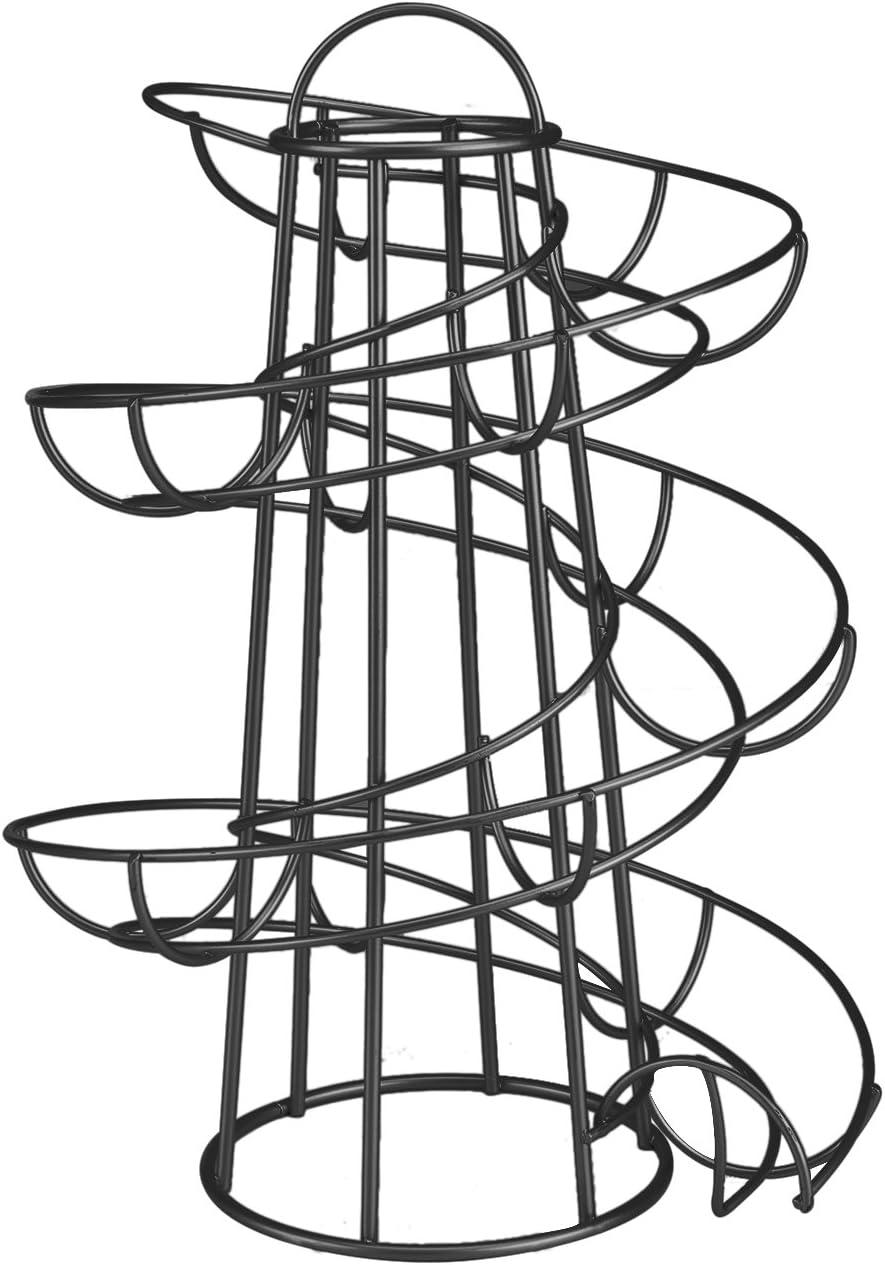 Flexzion Albuquerque Mall Egg Skelter Deluxe Modern Med Max 51% OFF Spiraling Dispenser Rack