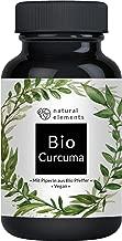 Bio Curcuma - 240 Kapseln - 4542 mg Bio Kurkuma + Bio schwarzer Pfeffer pro Tagesdosis - Mit Curcumin & Piperin - Hochdosiert, vegan und hergestellt in Deutschland