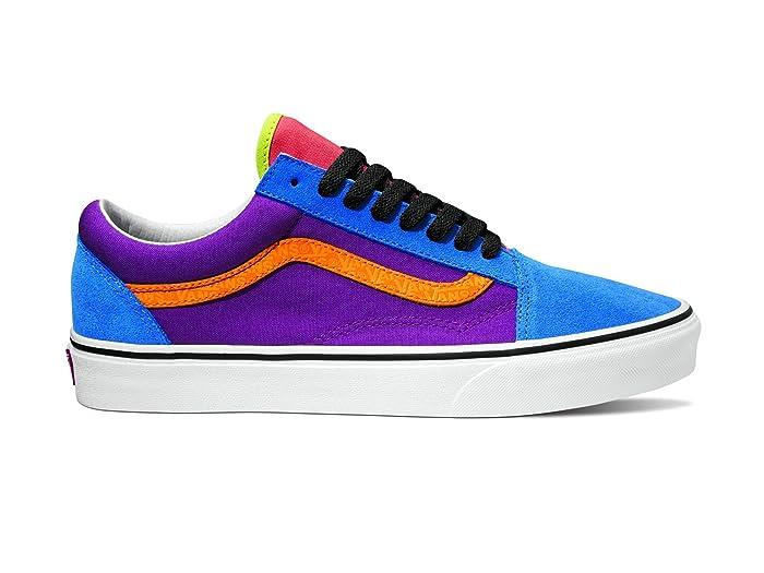 Mens Vintage Shoes, Boots | Retro Shoes & Boots Vans Old Skooltm Mix  Match Grape JuiceBright Marigold Skate Shoes $59.95 AT vintagedancer.com